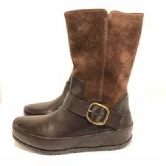 152017915 Fitflop Shoes - Fit Flop Women s Dueboot brown leather boots